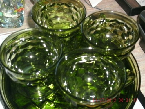 Indiana Glass Fostoria American Whitehall Service FOR 4 Snack Set