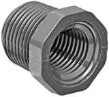Spears 839 Series PVC Pipe Fitting, Bushing, Schedule 80, 1-1/2