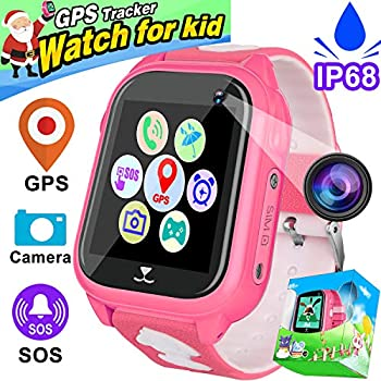 Kids Smart Watch Phone IP68 Waterproof GPS Tracker for Girls Boys Children Christmas Birthday Holiday Gift Game Toy SIM Watch Camera Pedometer SOS Anti-lost ...