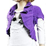 Sarah Girls purple Sweater Sleeveless cape jackets Children Fashion