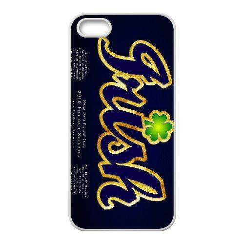 Notre Dame Fighting Irish 003 coque iPhone 4 4S Housse Blanc téléphone portable couverture de cas coque EOKXLKNBC19226