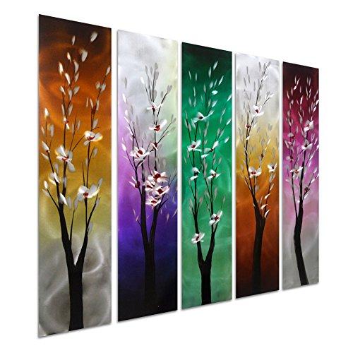 Pure Art Trees Through Seasons - Contemporary Metal Wall Art
