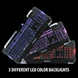 ENHANCE GX-K2 Mechanical Feel Gaming Keyboard with Hybrid Switches , 104+ High Precision Keys and 3 Adjustable LED Backlight Colors for Battlefield 1 , Dota 2 , World of Warcraft: Legion and More