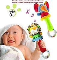 HUADADA 2 Pack Rattles Shaker Soft Baby Instruments Sensory Toy Cute Stuffed Animal Toy Infant Developmental Hand Grip...