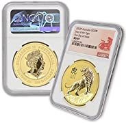 2022 AU 2 oz Gold Australian Lunar Tiger Coin MS-69 (First Day of Issue - Tiger Label) by CoinFolio 24K $200 M