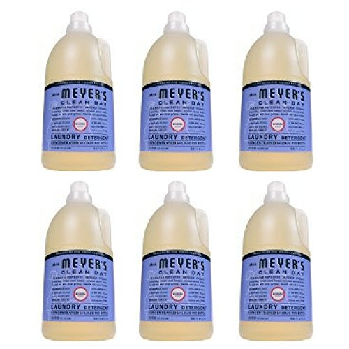 Mrs. Meyer's Clean Day 64 Load Laundry Detergent, Bluebell, 64 fl oz - Pack of 6 by Mrs. Meyers