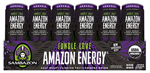 Sambazon Amazon Energy Drink, Jungle Love Passion Fruit & Acai Berry, 12 Ounce (Pack of (Love Drinks)