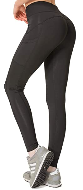 d2bf256ef1 WUGO High Waist Yoga Pants with Pockets, Tummy Control, Workout Pants for  Women 4