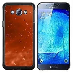 Caucho caso de Shell duro de la cubierta de accesorios de protección BY RAYDREAMMM - Samsung Galaxy A8 A8000 - Agua de Orange gota