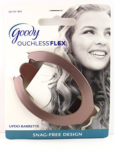 Goody Ouchless Comfort Flex Updo Hair Barrette (Brown)