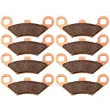 ECCPP Sintered Brake Pads Front and Rear Motorcycle Replacement Braking Pads Kits Set for Polaris 2007-2008 2010