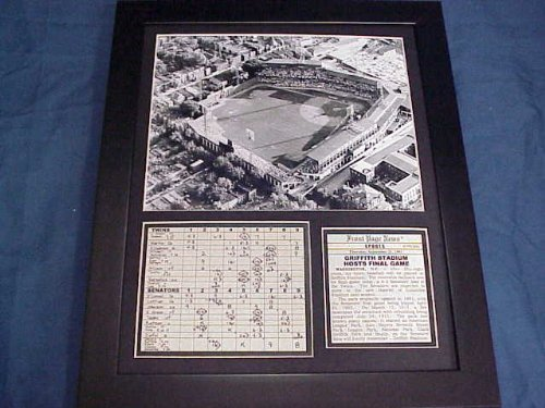 (11x14 Framed & Matted Washington Senators Griffith Stadium Final Game 8X10 PHOTO)