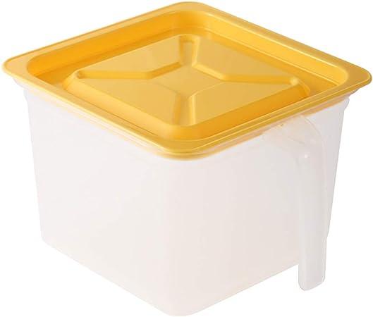 Caja de almacenamiento de alimentos Gaveta del refrigerador, la comida más crujiente PP grado, apilable rizador plástico, contenedores de almacenamiento de alimentos de plástico reutilizable con tapa,: Amazon.es: Hogar