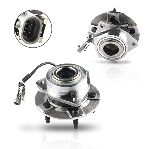 (MOSTPLUS Wheel Bearing Hub Front Wheel Hub and Bearing Assembly 513189X2 for Equinox Torrent Vue Left & Right Side With ABS 5 Lug (Set of 2))