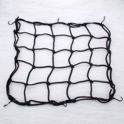 16'' X 16'' Back Seat Cargo Gas Fuel Tank Net Web Baggage Carrier Helmet Mesh For Motorycle Bike ATV Truck Black (Atv Gas Can Carrier compare prices)