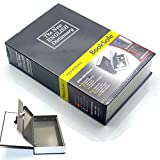 Dictionary Diversion Book Safe Secret Security Box with Strong Metal Case Inside and Key Lock for Stash Money Cash Black