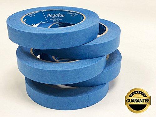 PEGAFAN VALUE PACK (5 ROLLS) BLUE Painter's Masking Tape, Multi-Use, 3/4
