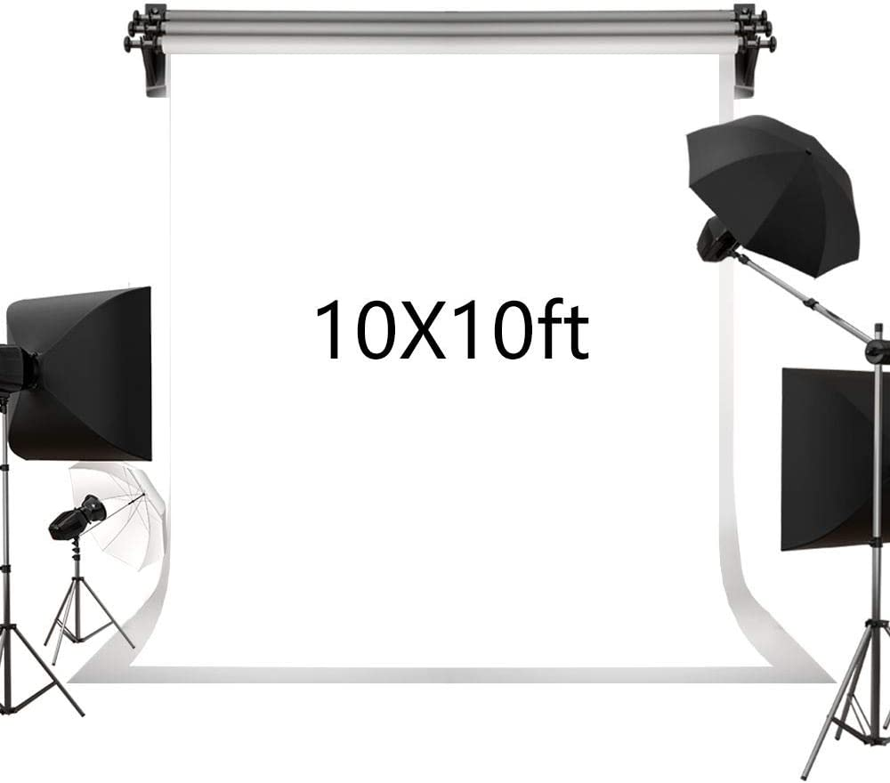 Kate 3×3m Solid White Backdrop Portrait Photography Background for Photography Studio Children and Headshots