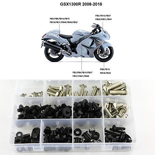 Xitomer Complete Fairing Bolts, for Suzuki GSX1300R HAYABUSA 2008-2018, Full Set Bodywork Screws/Fastenings/Mounting Kits (Silver)