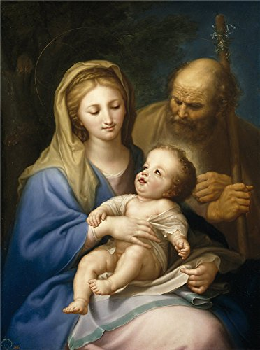 Oil Painting 'Bayeu Y Subias Francisco Holy Family Ca. 1776 ' Printing On Perfect Effect Canvas , 8 X 11 Inch / 20 X 27 Cm ,the Best Gift For Girl Friend And Boy Friend And Home Gallery Art And Gifts Is This Replica Art DecorativeCanvas Prints (Fireplace Vent Covers Magnetic compare prices)