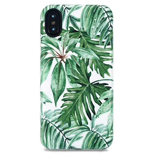 iPhone X Case/iPhone Xs Case, GOLINK Floral Series Slim-Fit Ultra-Thin Anti-Scratch Shock Proof Dust Proof Anti-Finger Print TPU Gel Case for iPhone X/iPhone Xs - New Banana ()