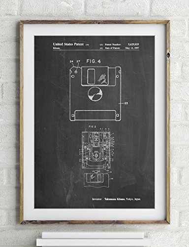 3 1/2 Floppy Disk Patent Poster