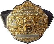 Fandu Belts Big Gold Adult Replica Real Leather Dual Plate Wrestling Championship Belt Title 8mm Thick 6.8lbs