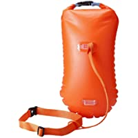LIOOBO Swim Buoy - Open Water Swim Buoy Flotation Device with Dry Bag and Waterproof Cell Phone Case for Swimmers, Triathletes, and Snorkelers. Floats for Safer Swims