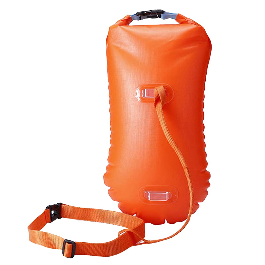 Triathletes LIOOBO Swim Buoy and Snorkelers Floats for Safer Swims Open Water Swim Buoy Flotation Device with Dry Bag and Waterproof Cell Phone Case for Swimmers