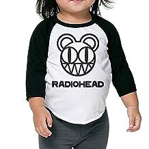 Toddler Funny Radiohead 100% Cotton 3/4 Sleeve Athletic Baseball Raglan Shirt