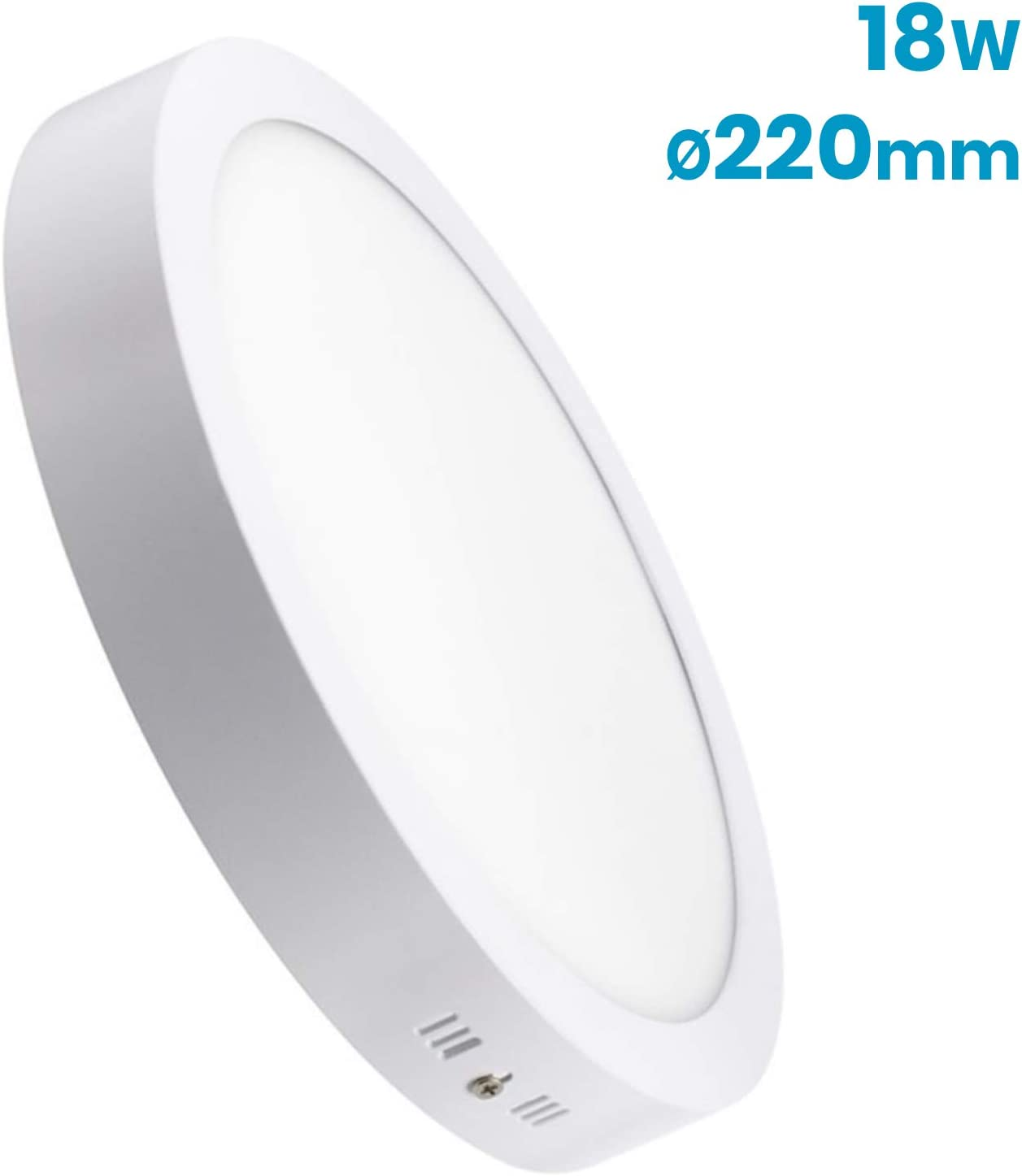 LA) Pack Plafón Downlight LED Circular 18W superficie. 1600 lumenes reales. Driver incluido. (Blanco neutro (4500K), 1 Unidad): Amazon.es: Iluminación
