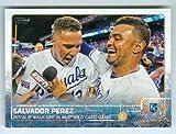 Salvador Perez baseball card (Kansas City Royals) 2015 Topps #210 Walk Off in Wild Card Game