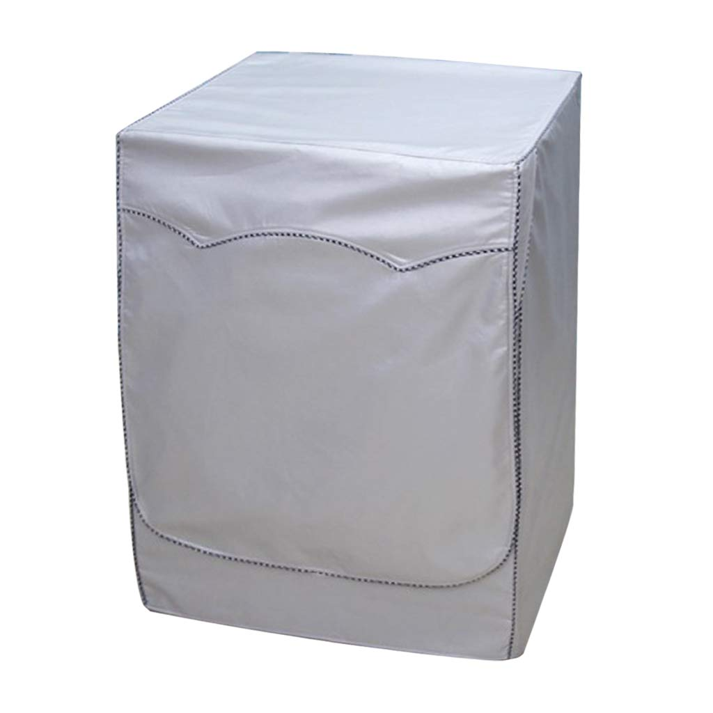 Baoblaze Waterproof Washing Machine Covers Sunscreen Cover for Drum-type Front Loading Washer Dryer - Style B_S
