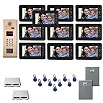 Apartment Video Intercom Ten 7 video monitor door camera kit