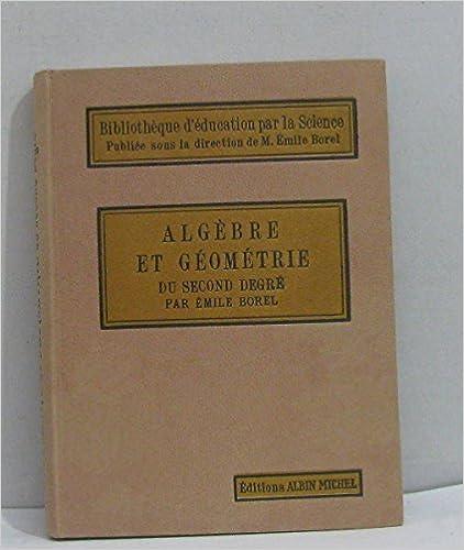 Téléchargement de livre audio anglais gratuit Algèbre et géométrie du second degré PDF RTF DJVU B014AEHBSU