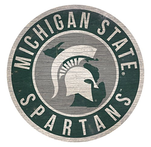Fan Creations Michigan State Spartans Sign Wood 12 Inch Round State Design