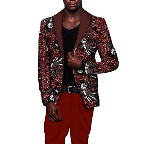 Tootless Men Africa Stylish Coat Plus Size Dashiki Slim Premium Suit Jacket 13 M by Tootless-Men