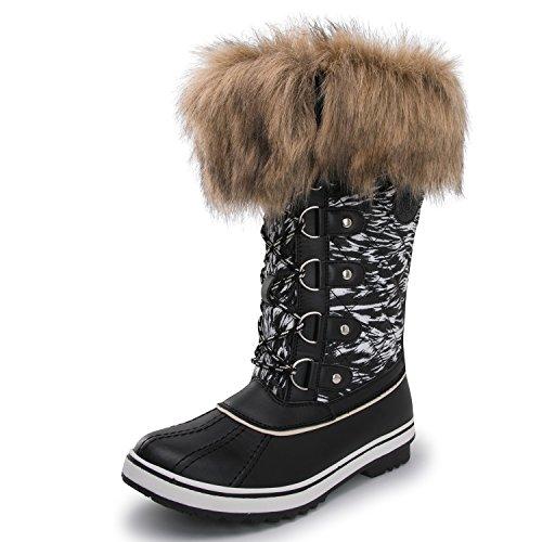 KINGSHOW Globalwin Women's Waterproof Print 1707black Boots Winter frr5x1Cq7w