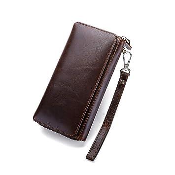 Titular de la tarjeta de la cartera de los hombre Mens Business Retro Posición larga de varias tarjetas Embrague ...