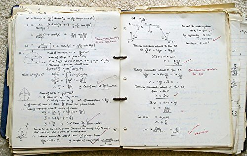 Quality Prints - Laminated 38x24 Vibrant Durable Photo Poster - School Book Exercise Maths Working Education Marked 1960S England - Homework Maths Book