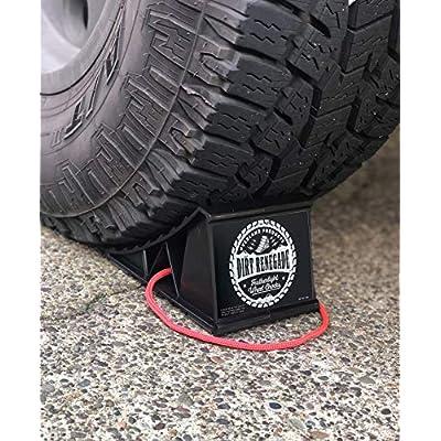 Wheel Chocks - Heavy Duty Wheel Chock Set with Lightweight Carry Bag, Grip Bottom & Rope Handle - Best Wheel Chocks for Travel Trailers, RV, Cars, Trucks, Campers, ATV, Garage Parking - Warranty: Automotive