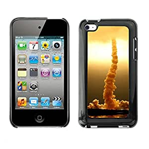 Soft Silicone Rubber Case Hard Cover Protective Accessory Compatible with Apple IPod Touch 4 - Rocket rises