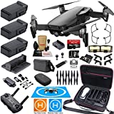 DJI Mavic Air Fly More Combo (Onyx Black) Elite Bundle with 3 Batteries, 4K Camera Gimbal, Professional Carrying Case and Must Have Accessories