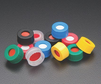 Finneran Associates Inc. Case of 1000 JG Finneran R.A.M J.G 9mm Cap Size 53951F-09Y Preassembled Screw Threaded Cap and Fixed PTFE//Silicone Septa Yellow
