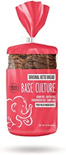 product image for Base Culture Keto Bread | Original, 100% Paleo, Gluten Free, Grain Free, Non-GMO, Dairy Free, Soy Free and Kosher | 16oz Loaf