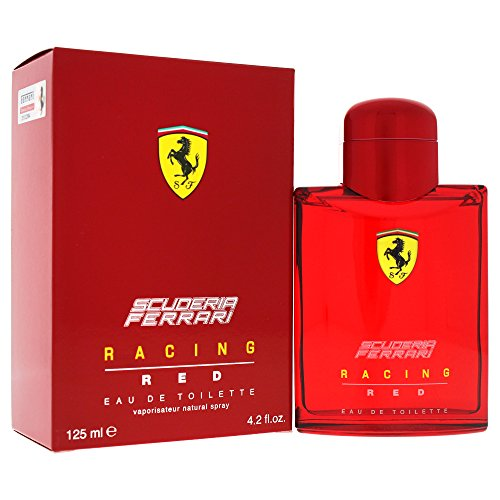 (Ferrari Scuderia Racing Red Eau de Toilette Spray for Men, 4.2)