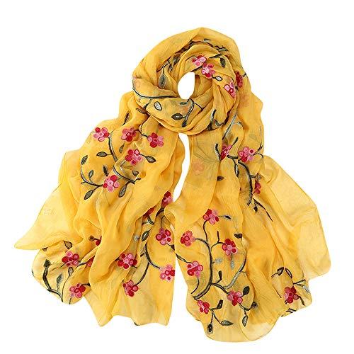 Hijab Scarfs for Women Hot Sale,deatu Clearance Ladies Embroidery Chiffon Wrap Shawls Headband Muslim Scarf(G)