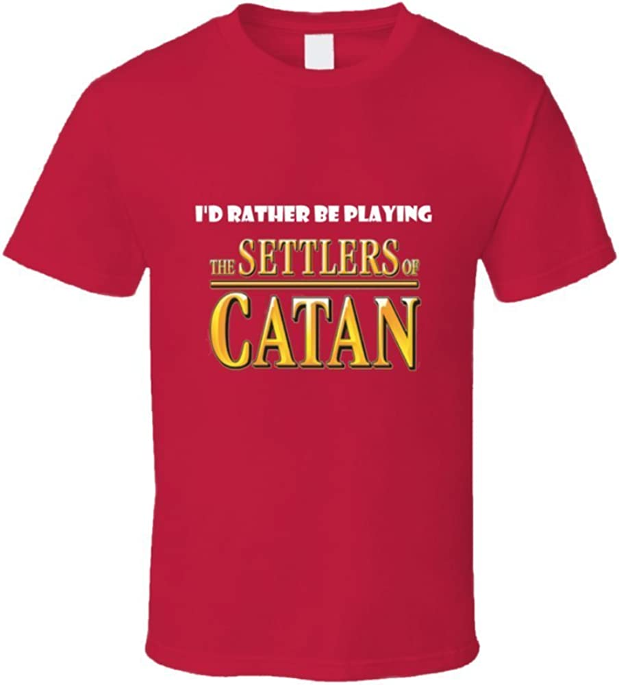 Id Rather Be Playing the Settlers of Catan Board Game Funny T Shirt: Amazon.es: Ropa y accesorios