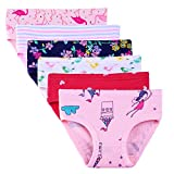 Shine Baby Soft Cotton Panties Little Girls' Assorted Briefs 6 Pack Fit Age 1-7 Girls Underwear (Assorted Bird, H 6-7Y140)