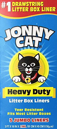 JONNY CAT Litter Box Liners, Heavy Duty, Jumbo 5 Per Box (4 Pack/Boxes)